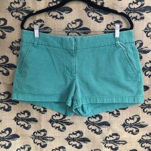 {J. Crew} Light Teal Green Chino Shorts